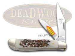 Steel Warrior Peanut Knife Imitation Stag Composite Stainless Pocket SW-107IS