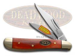 Steel Warrior World's Greatest Dad Peanut Knife Smooth Red Bone SW-107WGD/R