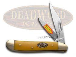 Steel Warrior World's Greatest Dad Peanut Knife Yellow Celluloid SW-107WGD/Y