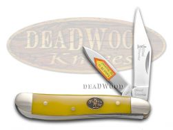 Steel Warrior Peanut Knife Yellow Composite Stainless Pocket Knives SW-107Y