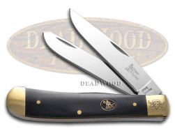 Steel Warrior Trapper Knife Buffalo Horn Etched Stainless Pocket SW-108CBHB
