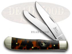 Steel Warrior Trapper Knife Imitation Tortoise Shell Stainless Pocket SW-108ITS