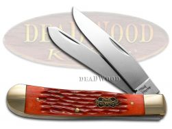Steel Warrior Trapper Knife Red Picked Bone Stainless Pocket Knives SW-108RPB