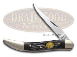 Steel Warrior Toothpick Knife Jigged Black Bone Stainless Pocket SW-109BJB