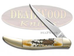 Steel Warrior Toothpick Knife Butter Rum Bone Stainless Pocket Knives SW-109BR