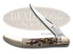 Steel Warrior Toothpick Knife Imitation Stag Stainless Pocket Knives SW-109IS