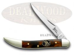 Steel Warrior Toothpick Knife Imitation Tortoise Shell Stainless SW-109ITS