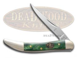 Steel Warrior Toothpick Knife Leaping Lizard Celluloid Stainless Pocket SW-109LL