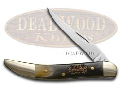 Steel Warrior Toothpick Knife Genuine Ox Horn Stainless Pocket Knives SW-109OX