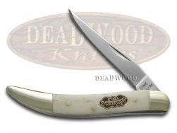 Steel Warrior Toothpick Knife Smooth White Bone Stainless Pocket SW-109WSB