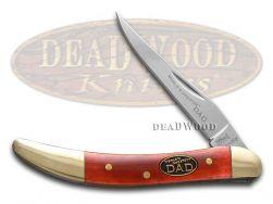Steel Warrior World's Greatest Dad Toothpick Knife Smooth Red Bone SW-109WGD/R