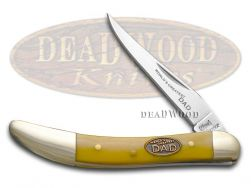 Steel Warrior World's Greatest Dad Toothpick Knife Yellow Celluloid SW-109WGD/Y