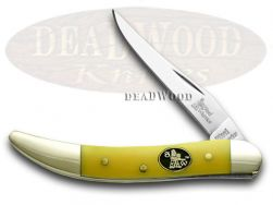 Steel Warrior Toothpick Knife Yellow Handle Stainless Pocket Knives SW-109Y