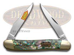 Steel Warrior Muskrat Knife Genuine Abalone Stainless Pocket Knives SW-122AB