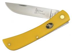 Steel Warrior Large Sodbuster Knife Yellow Celluloid Stainless Pocket SW-172Y
