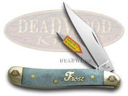 Frost Family Peanut Knife 40th Anniv Smooth Blue Bone 1/600 Stainless 40-107BSB
