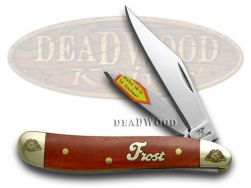 Frost Family Peanut Knife 40th Anniv Dark Red Bone 1/600 Stainless 40-107DRSB