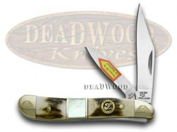 Frost Family Peanut Knife 40th Anniv Deer Stag & Mother of Pearl 1/600 40-107SMS