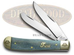 Frost Family Trapper Knife 40th Anniv Smooth Blue Bone 1/600 Stainless 40-108BSB