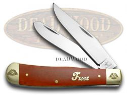 Frost Family Trapper Knife 40th Anniv Dark Red Bone 1/600 Stainless 40-108DRSB