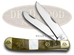 Frost Family Trapper Knife 40th Anniv Ram Horn & Mother of Pearl 1/600 40-108RMR