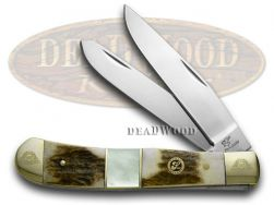 Frost Family Trapper Knife 40th Anniv Deer Stag Mother of Pearl 1/600 40-108SMS