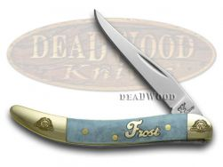 Frost Family Toothpick Knife 40th Anniv Smooth Blue Bone 1/600 Pocket 40-109BSB