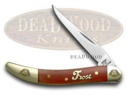 Frost Family Toothpick Knife Dark Red Smooth Bone 1/600 40th Anv 40-109DRSB