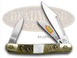 Frost Family Stockman Knife 40th Anv Ram Horn & Mother of Pearl 1/600 40-112RMR
