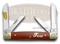 Frost Family Congress Knife 40th Anniv Smooth Dark Red Bone 1/600 40-115DRSB
