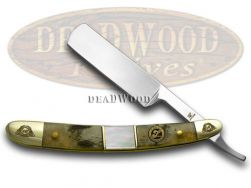 Frost Family Razor Knife 40th Anniv Ram Horn & Mother of Pearl 1/600 40-148RMR