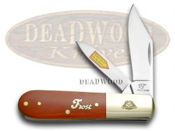 Frost Family 40th Anniversary Dark Red Smooth Bone 1/600 Barlow 40-163DRSB Knife