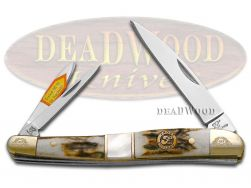Frost Family Whittler Knife Deer Stag & Mother of Pearl 1/600 40th Anv 40-167SMS