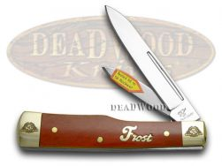 Frost Family Gunstock Knife 40th Anniv Smooth Dark Red Bone 1/600 40-169DRSB
