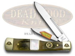 Frost Family Gunstock Knife 40th Anniv Ram Horn Mother of Pearl 1/600 40-169RMR