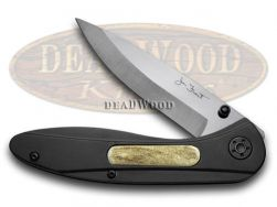 Frost Cutlery Signature Series Liner Lock Knife Black Handle Zirconia 18-299ST