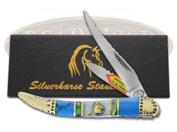 Silverhorse Red Turquoise MOP Toothpick Pocket  Knife SHS109TUR2 Knives