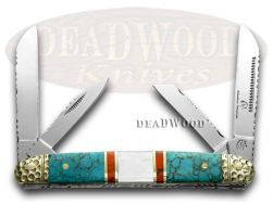 Silverhorse Blue Turquoise MOP Congress Pocket Knife SHS115TUR Knives