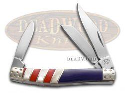 Silverhorse Stockman Knife Patriotic American Flag Series Stainless SHS-135RWB