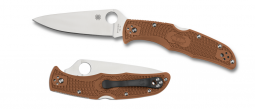 Spyderco Endura 4 Lockback Knife Brown FRN VG-10 Stainless C10FPBN Pocket Knives