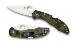 Spyderco Delica 4 Lockback Knife Zome Green FRN VG-10 Stainless C11ZFPGR Pocket
