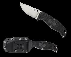 Spyderco Enuff Fixed Blade Knife Full Tang Clip Point Black FRN VG-10 FB31CPBK