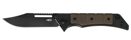 Zero Tolerance 0223 Frame Lock Knife Earth Brown G-10 & Black Titanium CPM 20CV