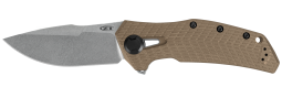 Zero Tolerance 0308 Frame Lock Knife Coyote Tan G-10 & Titanium 20CV Stainless