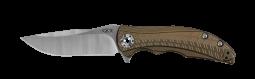 Zero Tolerance 0609 RJ Martin Frame Lock Knife Bronze Anodized Titanium CPM 20CV
