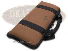Case xx Small Brown Leather & Cotton Knife Carrying Case for Pocket Knives 1074