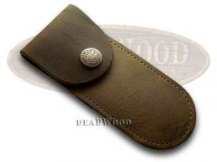 Case xx Genuine Brown Soft Leather Pocket Knife Belt Sheath 50003