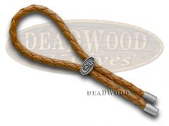 Case xx Brown Braided Leather Lanyard Cord for Pocket Knives 50124