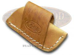Case xx Brown Leather Side Draw Pocket Knife Belt Sheath 50148