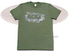 SOG Olive Green Silhouette Pattern Logo 100% Cotton Medium T-shirt